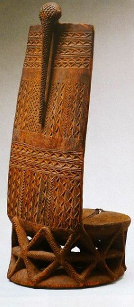 Africa High Back Stool From The Tabwa People Of Zaire