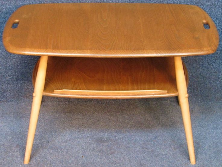 Ercol Elm & Beech Windsor 457 2 Tier Coffee / Occasional / Side / Tray Table #CoffeeOccasionalSideTrayTable