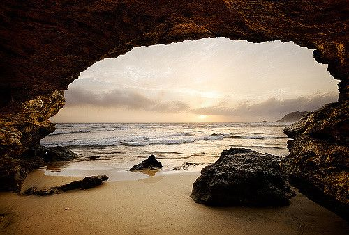 https://flic.kr/p/7trPGV | Sedgefield - South Africa: Sea Cave | Warm light illuminates a cave along the Sedgefield coastline in the Garden Route of South Africa.  John & Tina Reid  |  Commercial Portfolio   |  Photography Blog   |  Travel Flickr Group