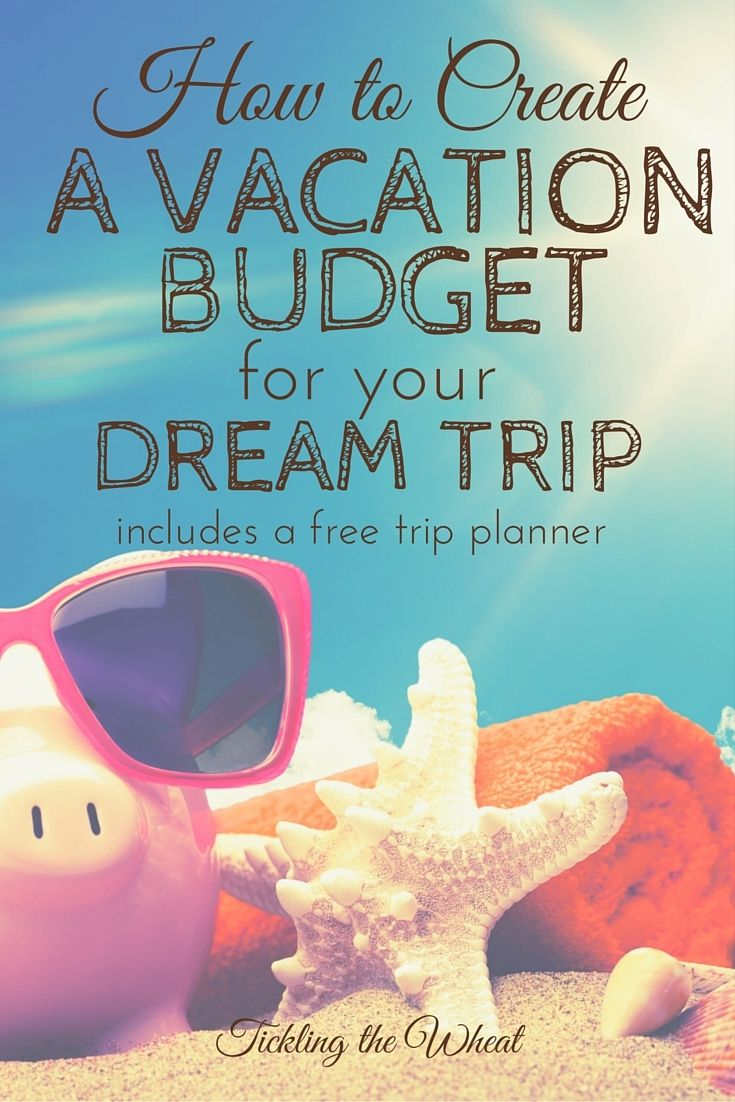 Vacations are a time to kick back and relax. Planning a vacation should be simple (and fun), too. Here's how to create a vacation budget (with a free printable trip planner). How to Create a Vacation Budget for Your Dream Trip