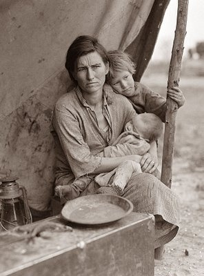 Florence Owens became the icon of Great Depression...1 of 5 photos taken of her showing her poverty and hopelessness..