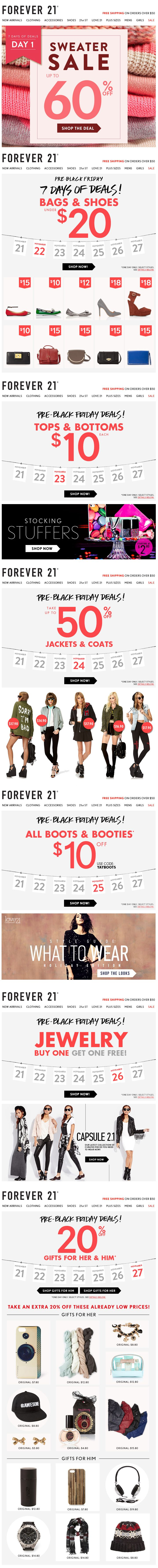 Forever 21 : 7 Days Of Gifts
