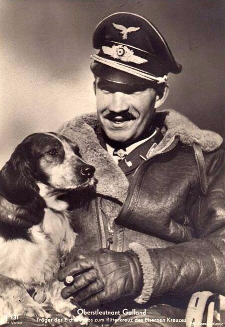 Adolf Galland wears an Irvin jacket -- a favorite acquisition among Luftwaffe…