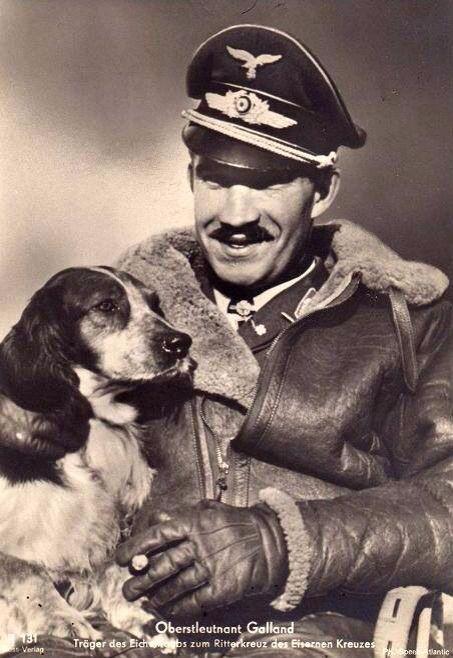 Adolf Galland wears an Irvin jacket -- a favorite acquisition among Luftwaffe…