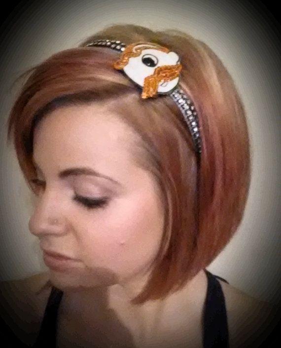 Orange sequin Natty Boh orioles headband by HeadQuase on Etsy, $15.00