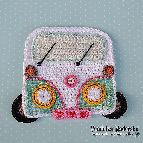 ao <3 / Ravelry: Car/Camper coaster pattern by Vendula Maderska.