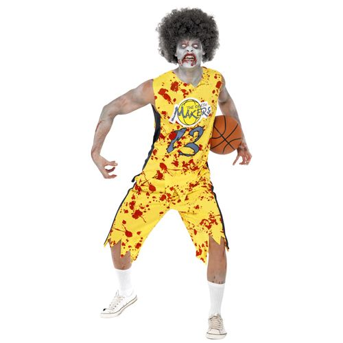 High School Horror Zombie Basketball Player, with Top and Shorts. http://www.novelties-direct.co.uk/High-School-Horror-Zombie-Basketball-Player-with-Top-and-Shorts.html