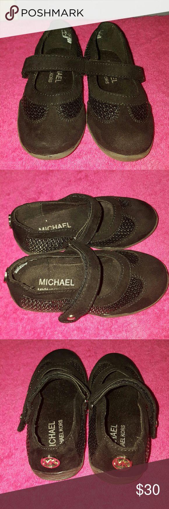 Black Michael Kors Ballet Flats Shoes Michael Kors black ballet flats with straps Michael Kors Shoes Dress Shoes