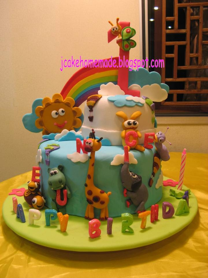 I want to make a baby tv cake. I like the set up of this one but I would change the characters to Kaci's favorite ones