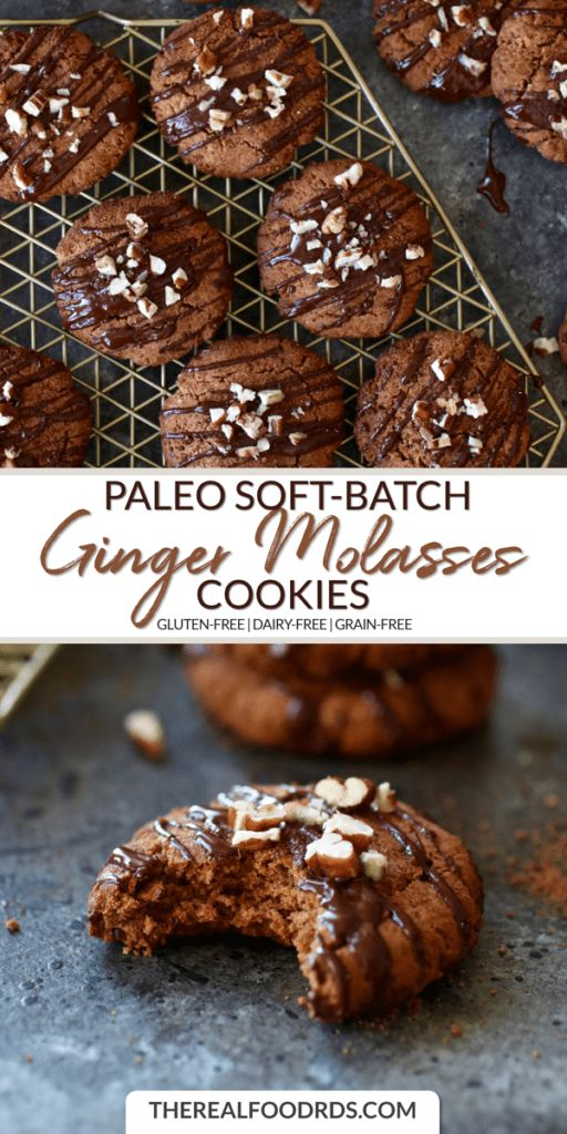 Paleo Soft Batch Ginger Molasses Cookies