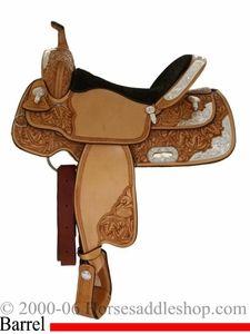 """14"""" 15"""" 16"""" Billy Cook Saddles - Silver Barrel Racer 10-2000"""