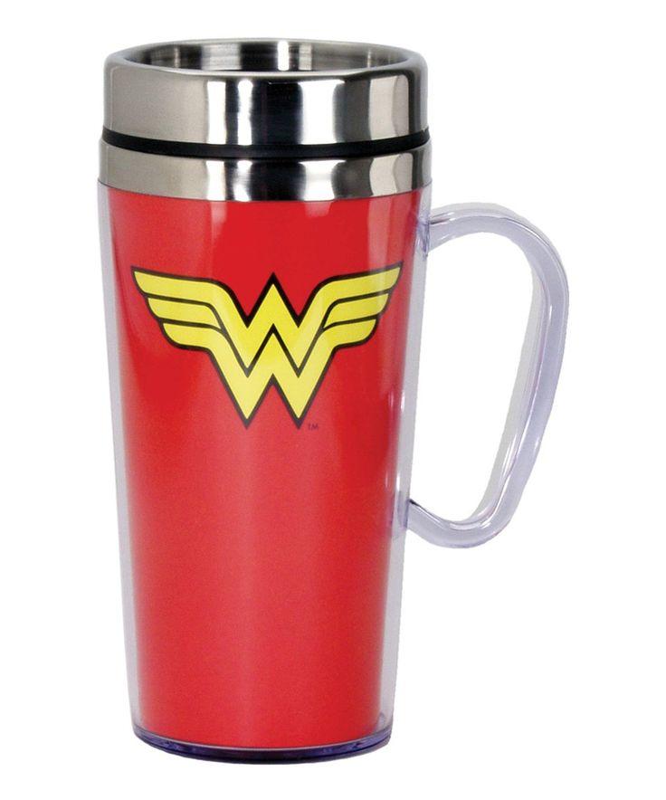Take a look at this Wonder Woman Logo 15-Oz. Insulated Travel Mug today!