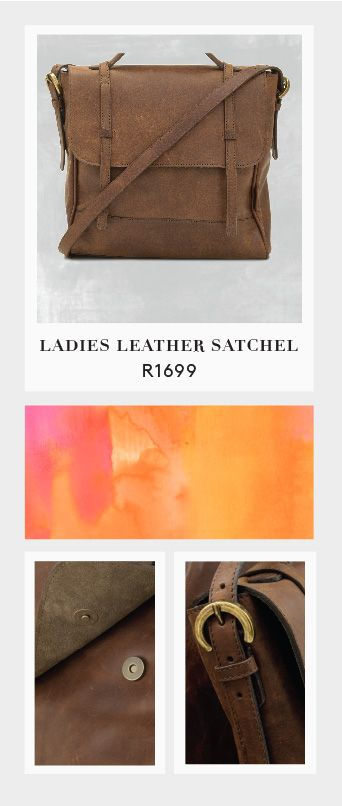 Ladies Leather Satchel from Mat & May