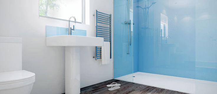 oooooh-  Glass Shower Panels by Mermaid Panels