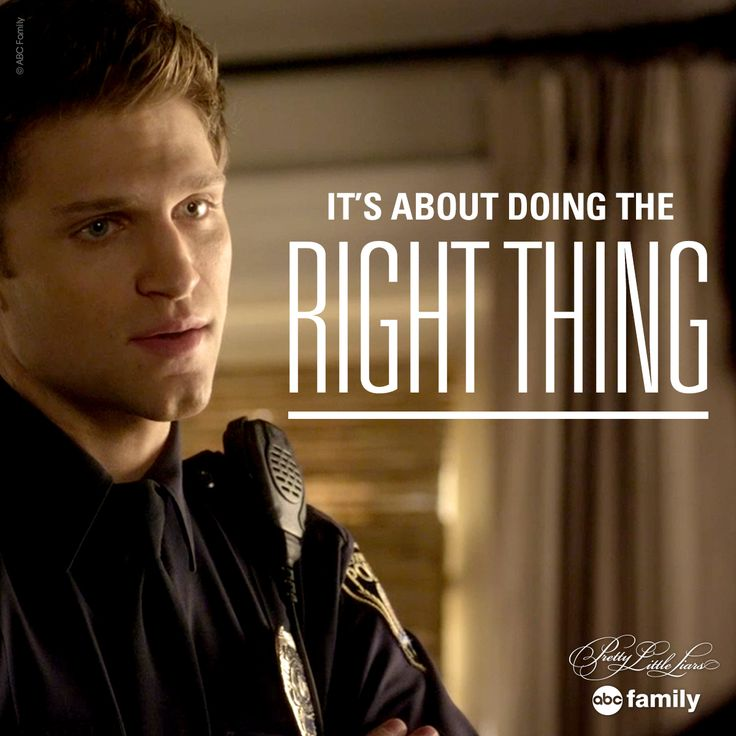 """It's about doing the right thing."" - Toby 