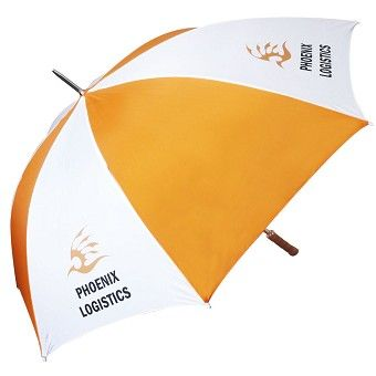 Our best selling budget golf promotional umbrella provides a cost effective and prominent impact for any purpose.The umbrella comes with a polished wooden handle as standard and now comes with a windproof iron stem.   18 different stock colours   Wooden handle as standard  Iron frame  Iron Ribs  Number of Panels: 8.Diameter: 130cm  Length (closed): 101cm  Panel Width: 50cm  Rib Length: 75cm  Weight: 750g .