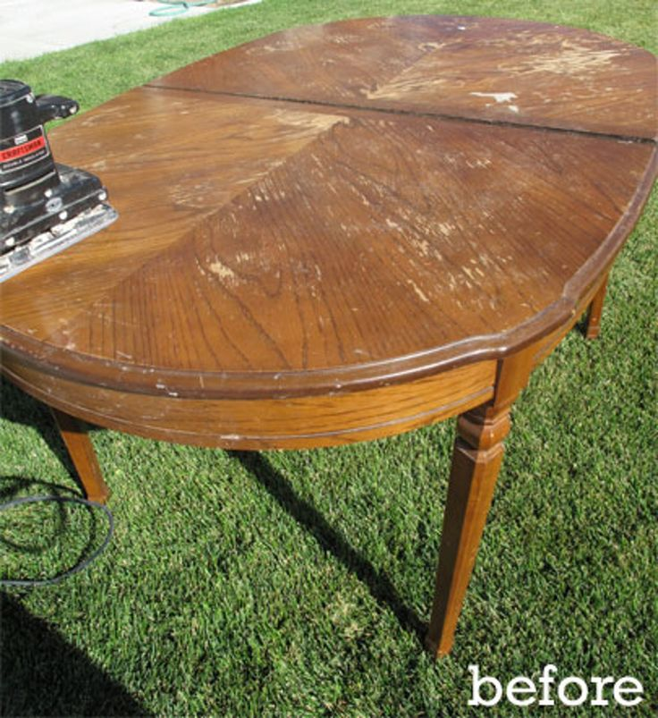 Dining Room Table Refinishing: Before & After: DIY Dining Table Rehab In 2019