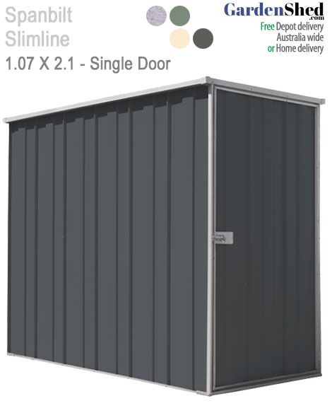 SPANBILT Slimline garden sheds are covered by a 15 year warranty and their exclusive Fasttrack fast assembly system makes them extremely easy to assemble.