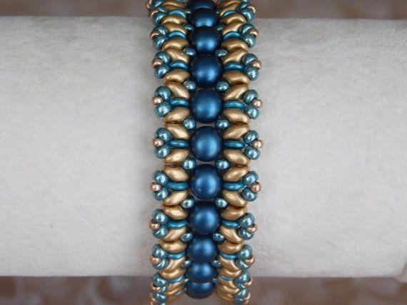 Bead Bracelet Tutorial Beading Pattern Superduo by poetryinbeads