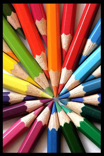 Color Wheel created with colored pencils