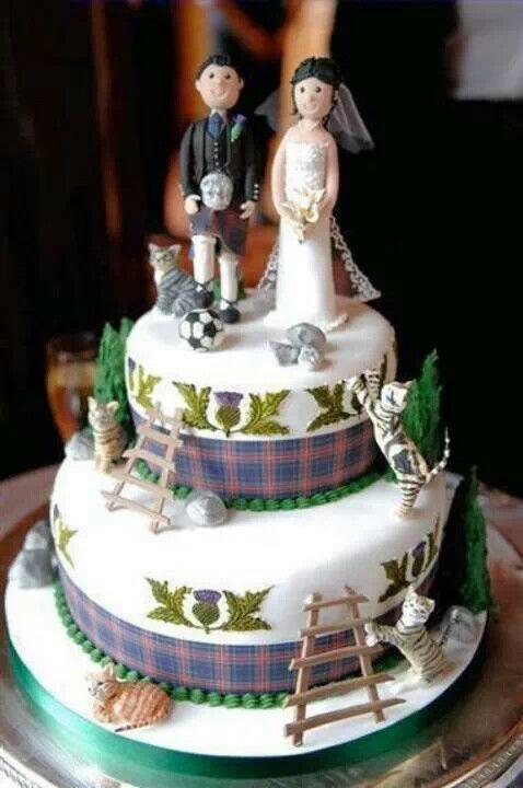 Scottish Themed Wedding Cakes
