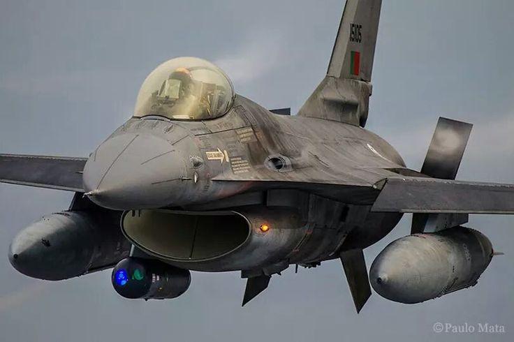 In flight Portuguese Air Force F16