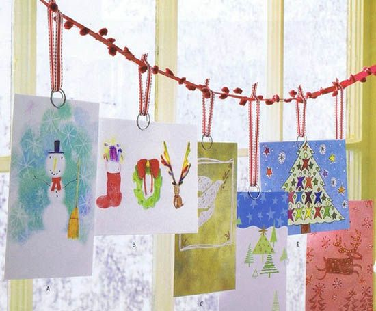 Simple Craft Ideas, Easy Handmade Christmas Decorations (hang cards ...