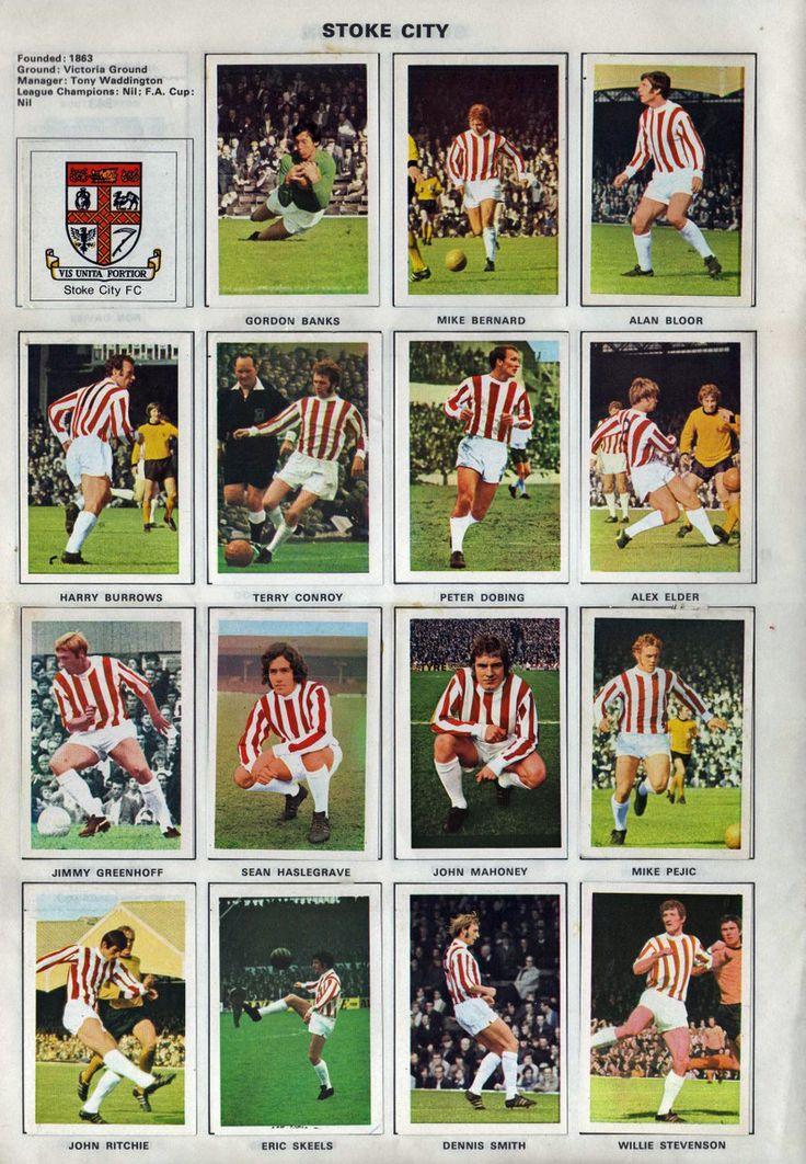 stoke city vintage   STOKE CITY 1971-72. By Soccer stars. ~ THE VINTAGE FOOTBALL CLUB