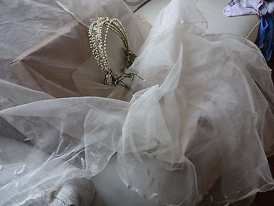 Vintage-brides-waxed-flowers-headdress-and-veil-authentic1910-1920