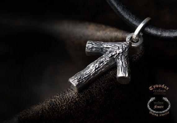Silver Rune   Viking necklace. Viking Runes. Runic by TYVODAR