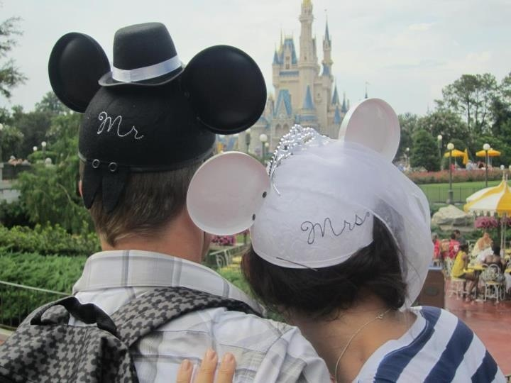 Disney World Honeymoon Mickey Ears Wedding Bride And Groom Mr