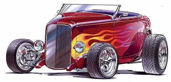 Rat Rod Clip Art   Concept art of Heidt's Hot Rod SHop 32 ...
