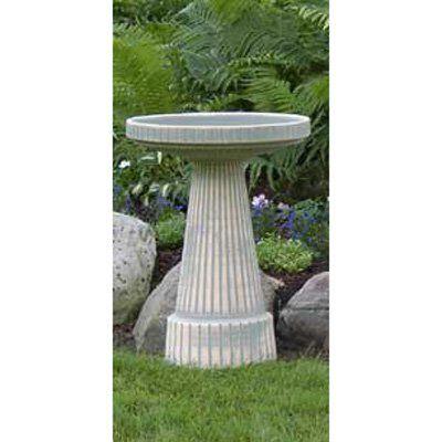 Burley Clay Moss Universal Ceramic Bird Bath | from hayneedle.com