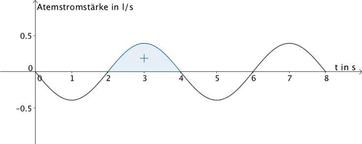 Flächenstück, das der Graph der Funktion g für t ∈ [2;4] mit der x-Achse einschließt.