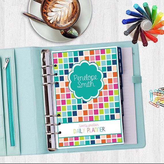 2014/15 Daily Planner (HALF SIZE) Life Organizer - Digital, Printable - Instant download - Monthly Calendar, Weekly, Meal Planning