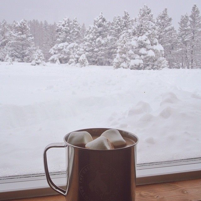 фото кофе в стакане на улице зимой изюминкой отчёта