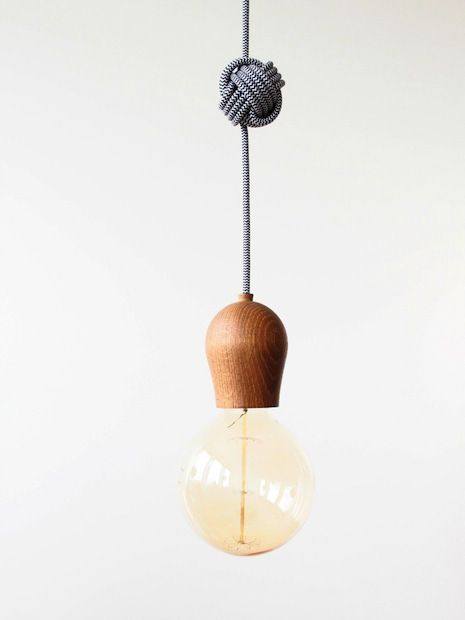 Add Decorative Knots To Your Pendant Lamps.  Monstercircus_knotted_pendant_lamp_01