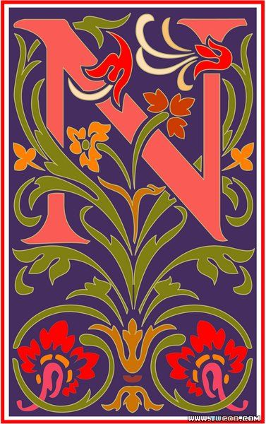 Vincent Style Letter N Alphabet Pinterest Lettering Letter N