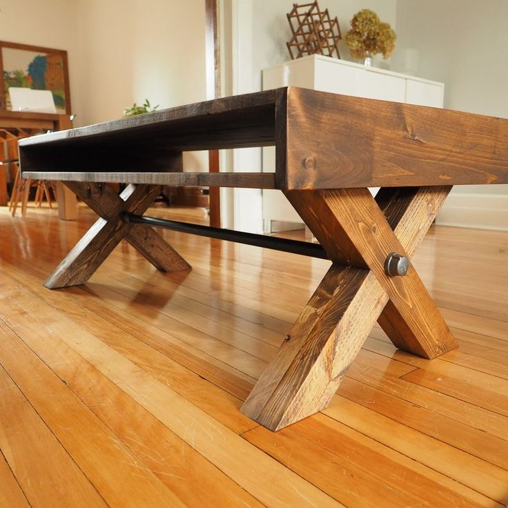 BUILD PLANS X leg coffee table plans PDF Modern industrial