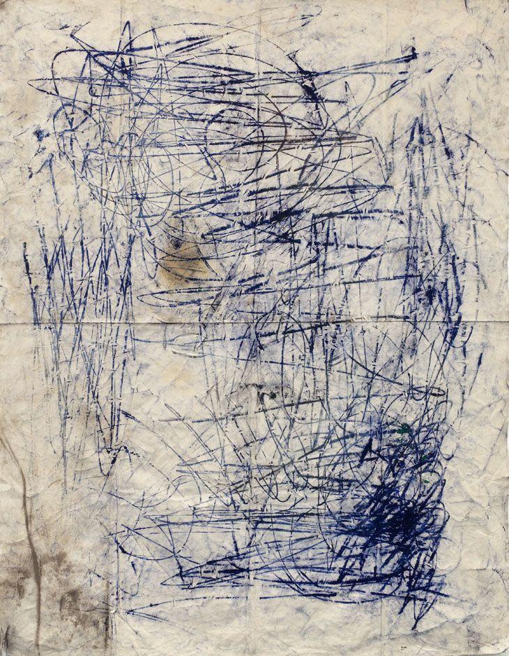 Oscar Murillo Untitled 2011 Oil, oil stick, graphite, dirt on canvas 220 x 170 cm