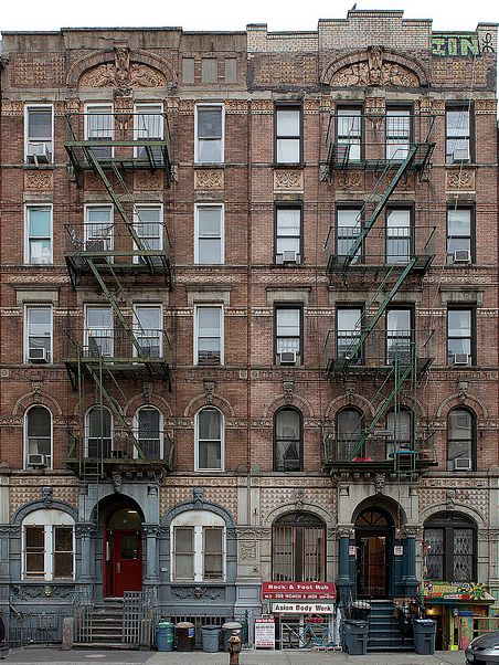 The cover of Led Zeppelin's Physical Graffiti album is actually 96 and 98 St. Marks Place, in the East Village, NYC. physical_graffiti_album_cover_location_led_zeppelin
