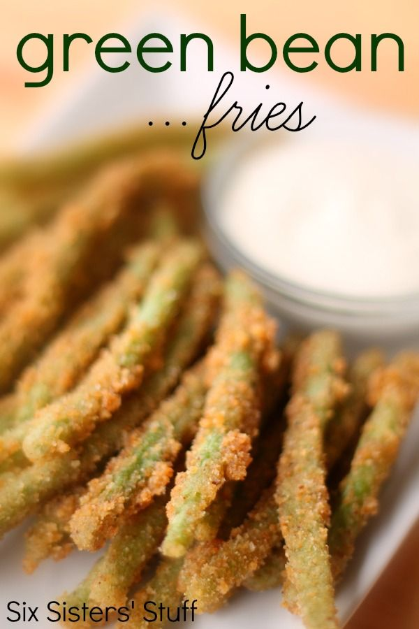 My family can't get enough of these Green Bean Fries from SixSistersStuff.com! #sixsistersstuff