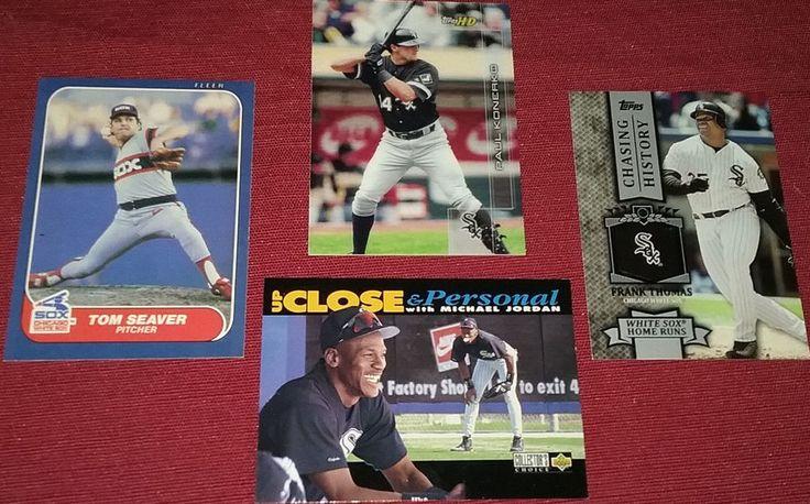 4 Chicago #WhiteSox #FrankThomas #MichaelJordan #TomSeaver #PaulKonerko #MLB Lot #ChicagoWhiteSox