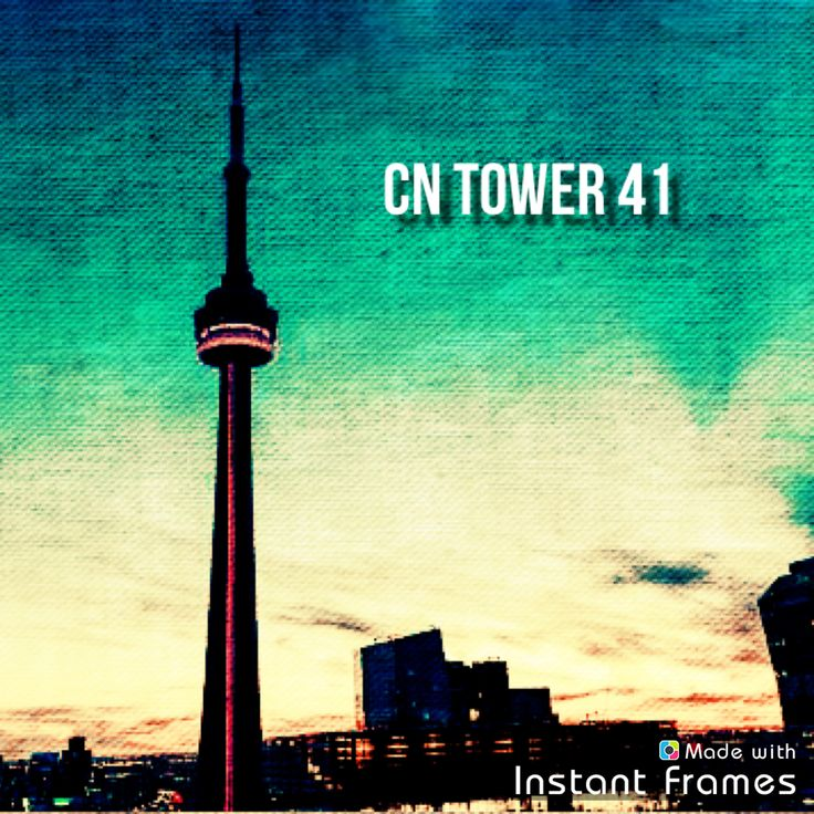 The CN tower was built 41 years ago today🇨🇦 #CNtower #CN #tower #Toronto #Ontario #Canada #🇨🇦   Made with Instant Frames app http://itunes.apple.com/app/id536422900