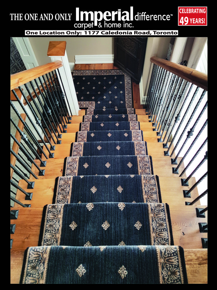 """FROM STAIR RUNNER INSTALLATIONS IDEABOOK"" Visit or call for All kind of Rugs at Imperial Carpet & Home@416 783 8838 