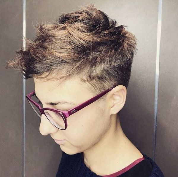 Semi Undercut Short Layered Hairstyles 2018 2019 Super Short Hair Elegant Short Hair Short Hair Styles