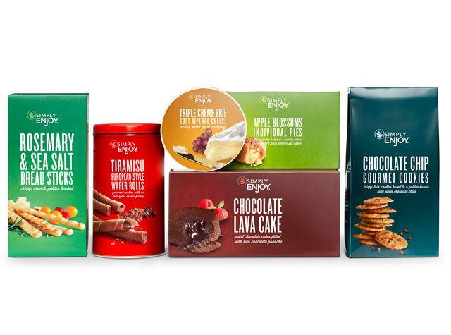 Simply Enjoy used vibrant colors and photography for their latest #packagedesign
