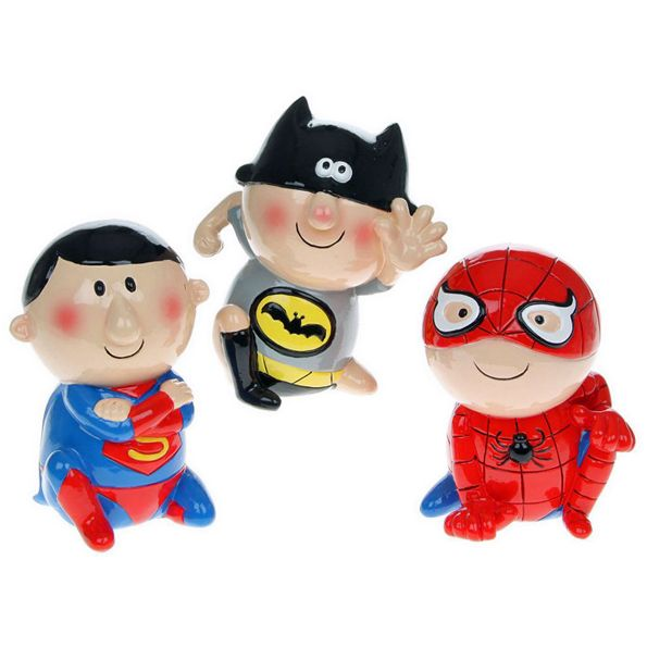 Childrens Superhero Money Box - three designs to choose from Spiderman, Superman, and Batman   £9.99 These great novelty Superhero children's money boxes make fabulous gifts for young children