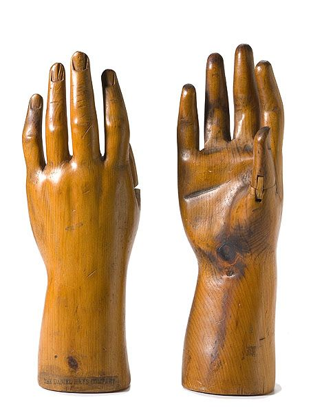 Pair of Glove Forms Marked The Daniel Hays Company