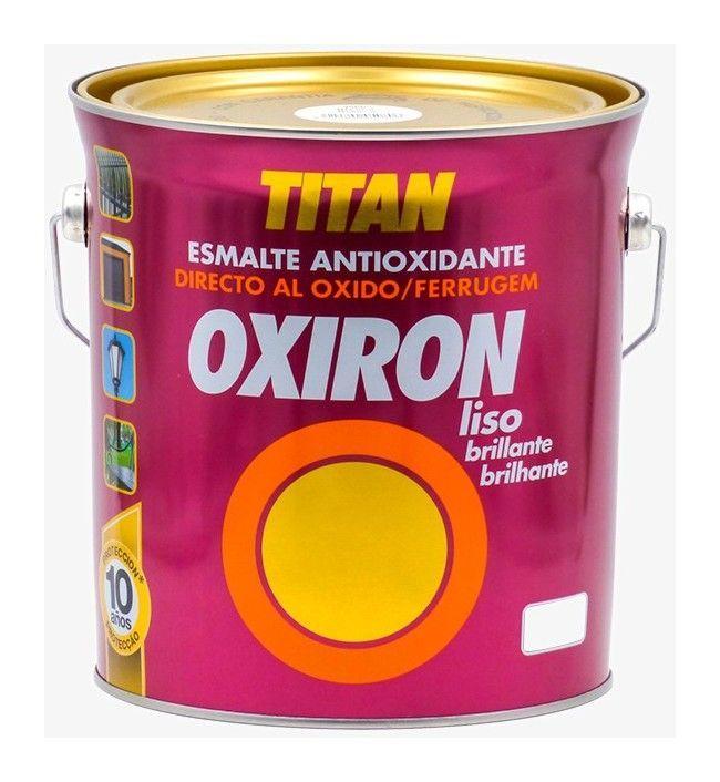 Titan Oxiron Lisse Brillant 4l 4 L 4566 Blanc Appareilselectromenagersusages Blanc Brillant Peinture Fer Peinture Antirouille Essence De Terebenthine